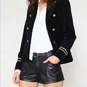 Nasty Gal Faux Leather Black Shorts
